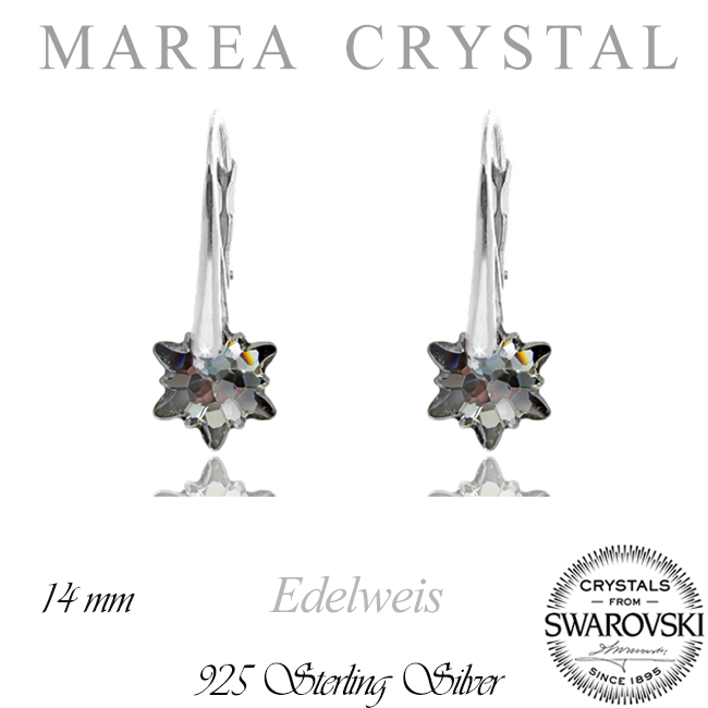 Náušnice Edelweiss Silver Night