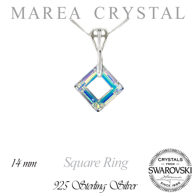 Náhrdelník Square Ring Aurore Boreale  5bf1f65b159