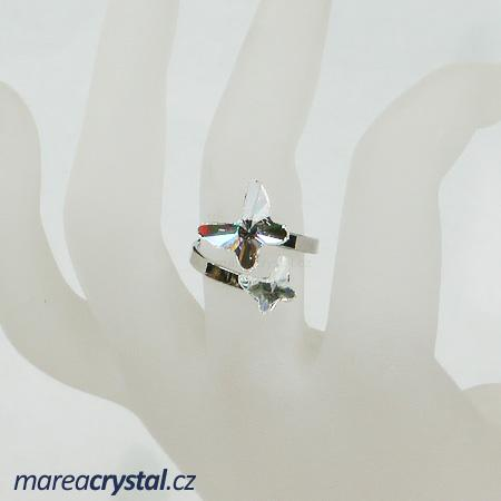 Prsten se Swarovski ELEMENTS 2x Butterfly