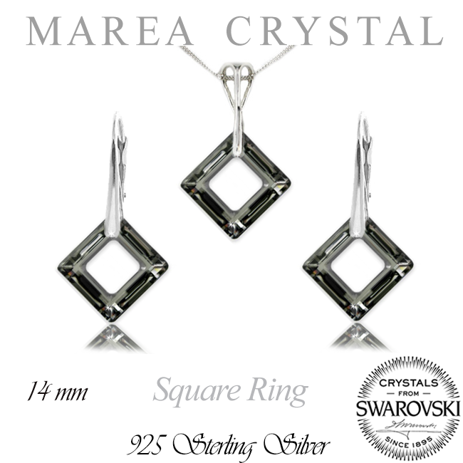 Souprava Square Ring Silver Night