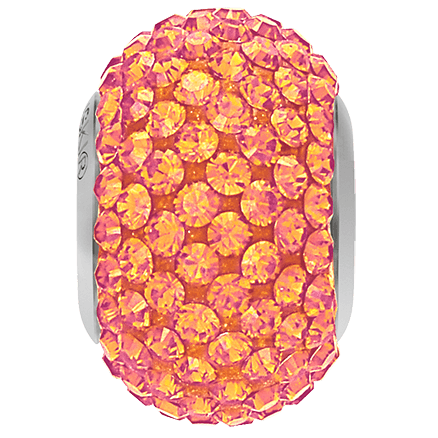 80101 BeCharmed Pavé Bead Astral Pink