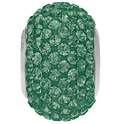 80101 BeCharmed Pavé Bead Emerald