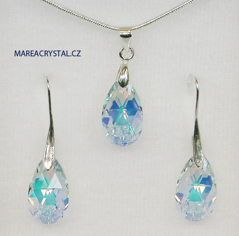Souprava se Swarovski ELEMENTS Pear-shaped