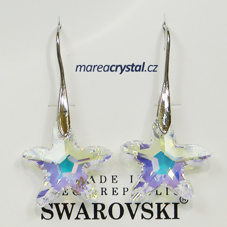 Naušnice se Swarovski ELEMENTS Starfish