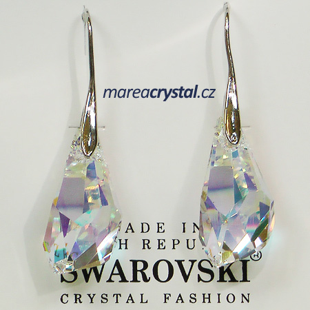 Naušnice se Swarovski ELEMENTS Polygon Drop
