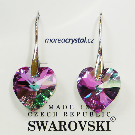Naušnice se Swarovski ELEMENTS Heart