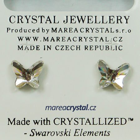 Naušnice se Swarovski ELEMENTS Butterfly 8mm