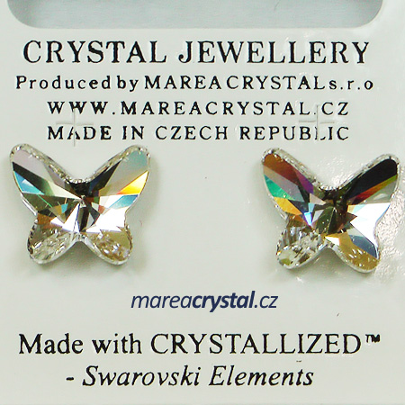 Naušnice Swarovski ELEMENTS Butterfly 12mm