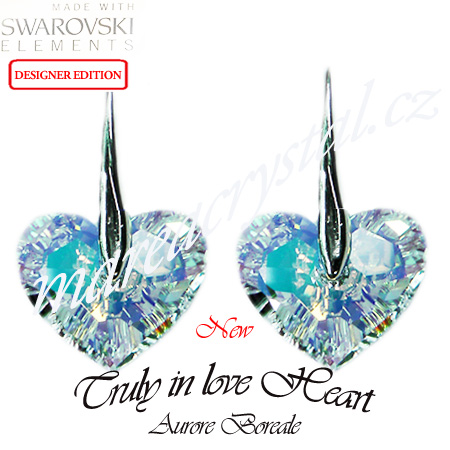 Naušnice Swarovski ELEMENTS Truly in love Heart