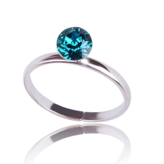 Prsten Chaton Blue Zircon