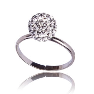 Prsten Pave Ball Crystal