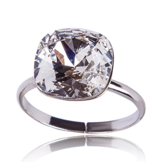 Prsten Square 12mm Crystal