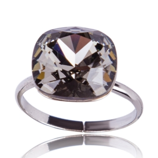 Prsten Square 12mm Black Diamond