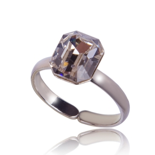 Prsten Octagon 10mm Crystal
