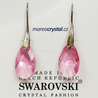 Naušnice se Swarovski ELEMENTS Pear-Shaped