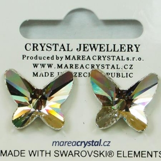 Naušnice Swarovski ELEMENTS Butterfly 18mm
