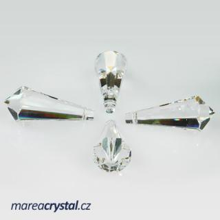 Křišťál Drop špičatý 32x14mm Crystal