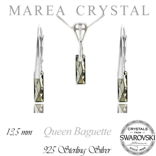 Souprava Queen Baguette Silver Night