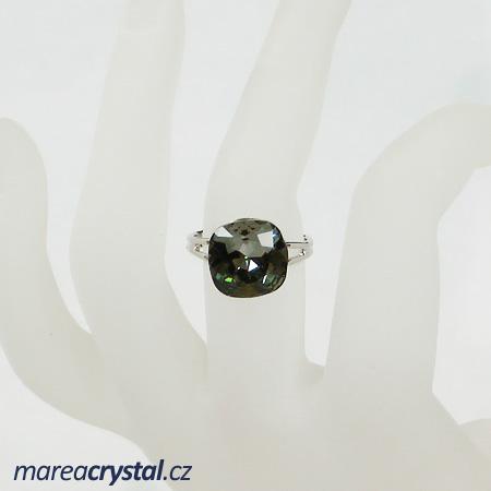 Prsten se Swarovski ELEMENTS Classical Square 12mm
