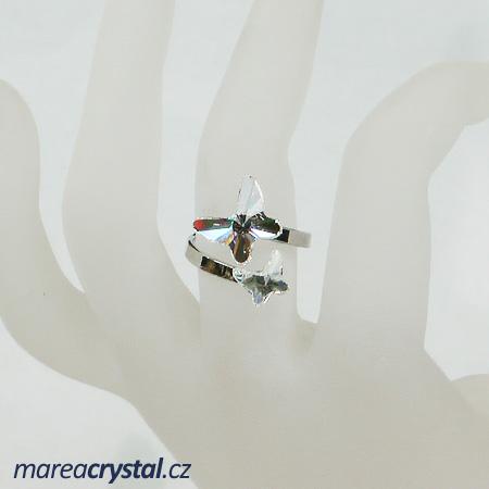 Prsten se Swarovski ELEMENTS 2x Butterfly