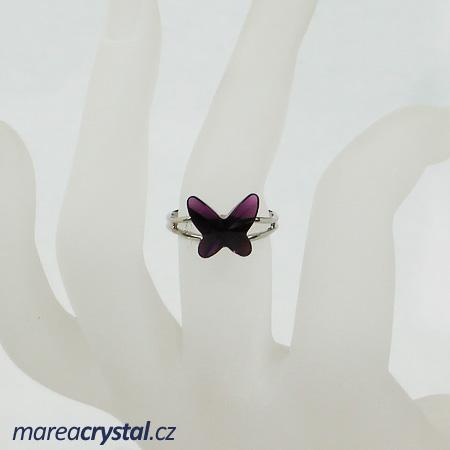 Prsten se Swarovski ELEMENTS Butterfly 12mm