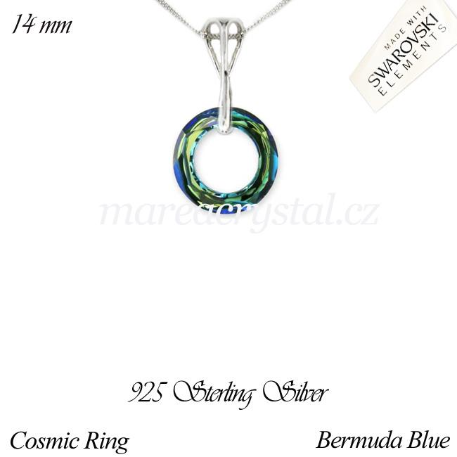 Stříbrný Náhrdelník se Swarovski ELEMENTS Cosmic Ring